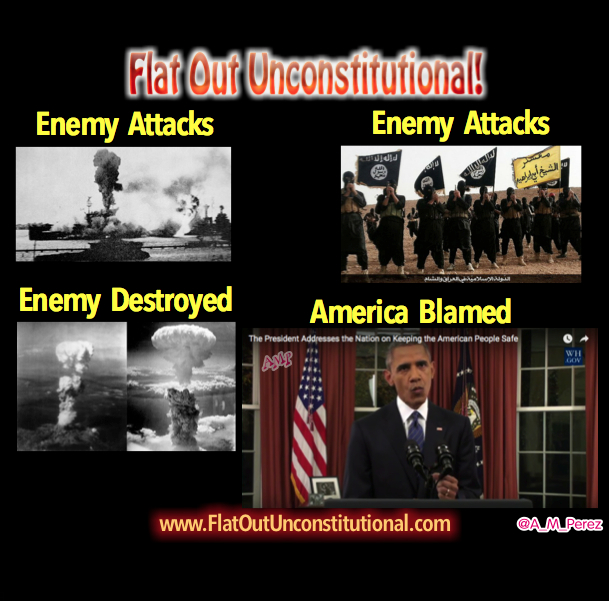 Obama Blames America in hisSpeech.