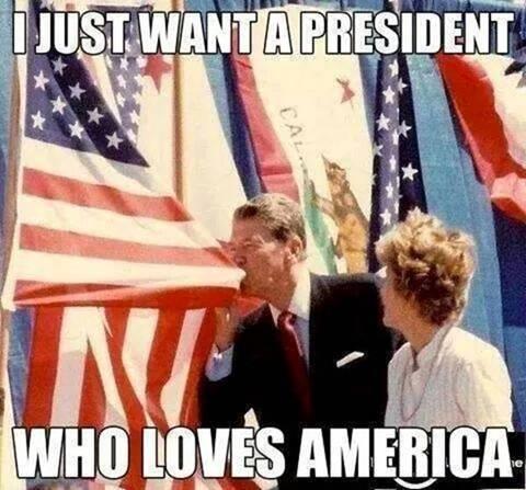 reagan love usa president
