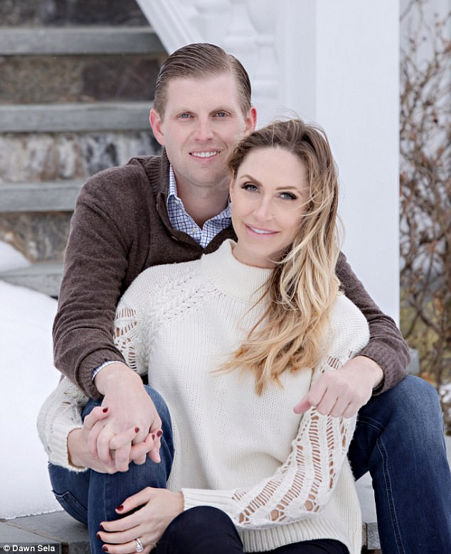 Joyous news: Speaking to DailyMail.com from Aspen, the couple said: 'It has been an amazing year for the Trump family and we couldn't be more excited about this next big step in our life'